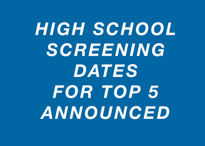 Screening to Select Top 5 in High School Category Dates
